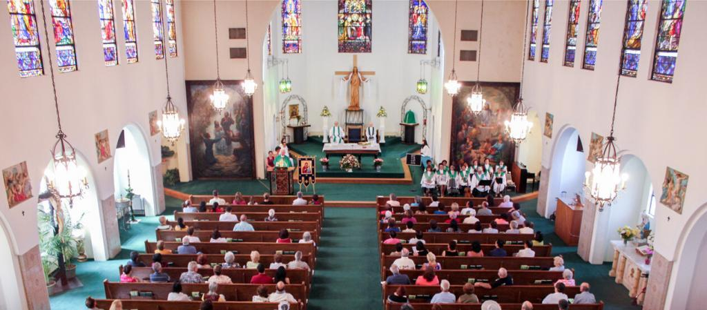 Mass at Our Lady of Perpetual Help Church in Tampa, Florida