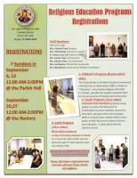 Registration for Religious Education Classes in September 2020 Featured Image